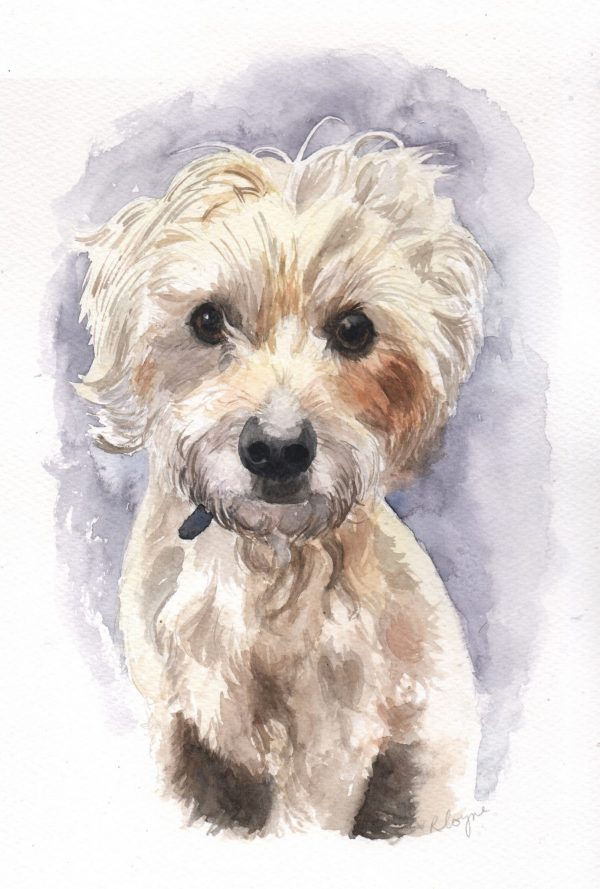 Commission dog portrait