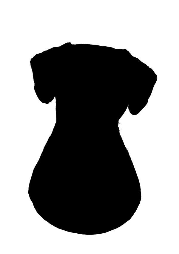 Dog portrait plain watercolour