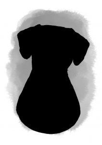 Watercolour pet portrait wash background dog