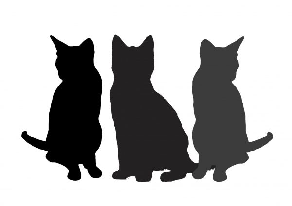 Pet portrait painting landscape 3 cats