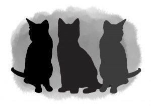 Pet portrait 3 pets watercolour wash